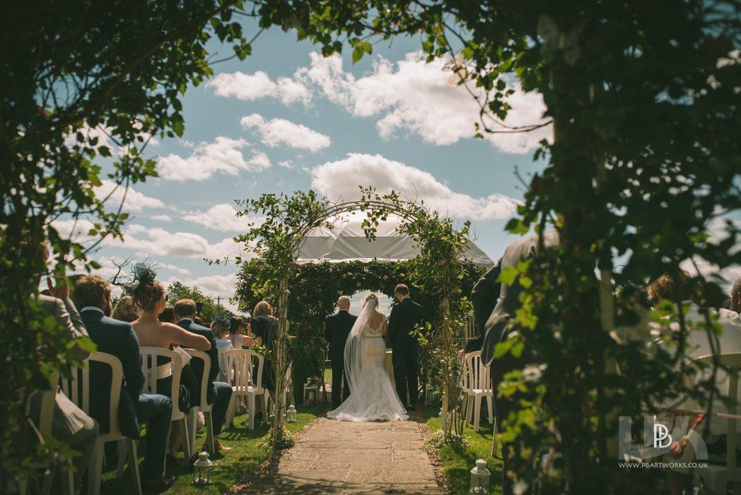 The garden room licensed for out side civil ceremonies near Shrewsbury Shropshire