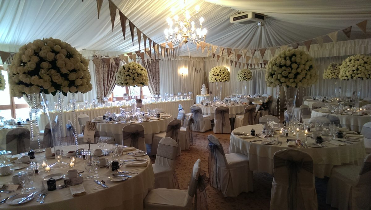 The Imperial Wedding Suite at the Albright Hussey Manor shrewsbury
