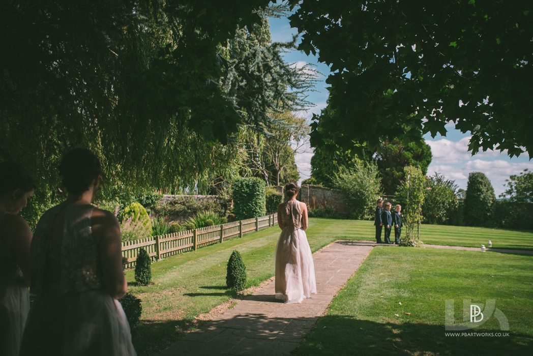 A Beautiful summer wedding in the garden at the Albright Hussey Manor