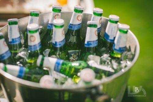 Bottles of peroni