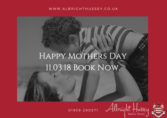 Mothering Sunday at the Albright hussey Manor in Shropshire