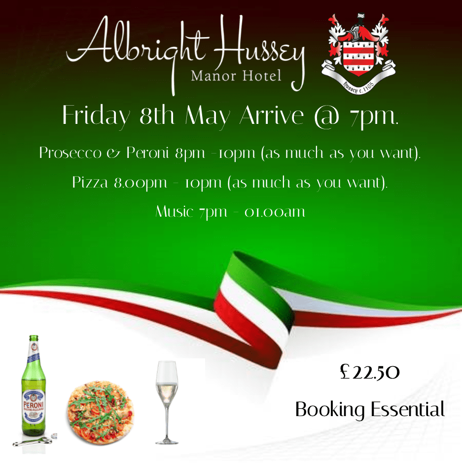 Pizza prosecco party Shrewsbury