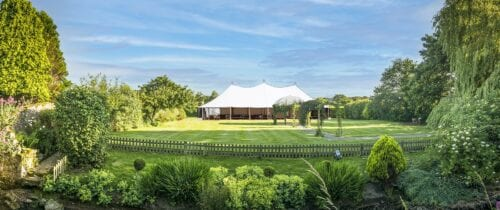Garden marquee at the Manor